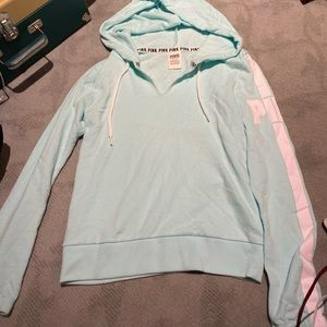 light blue hoody